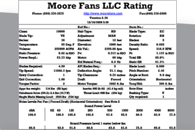 Moore Fans Rating Software